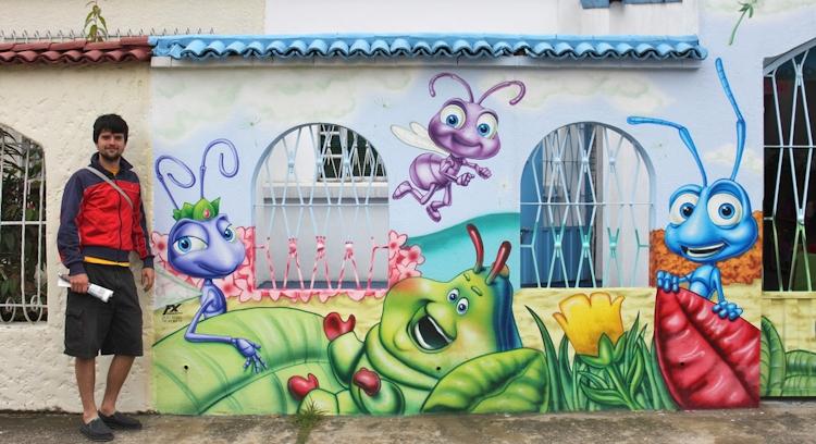 Art in Bogota streets