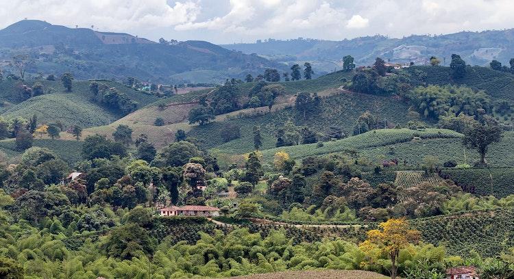 Fazenda colonial no Vale do Cauca