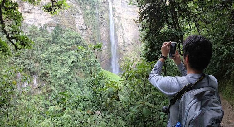Paisaje del bosque tropical del Perú