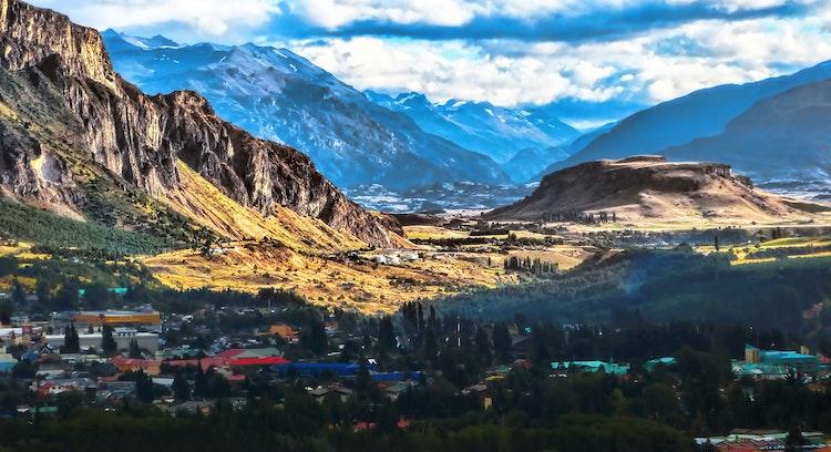Vista de la ciudad de Coyhaique