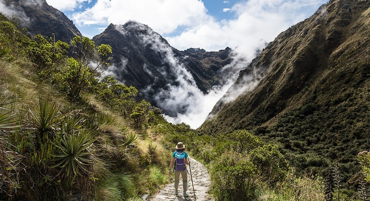 Mujer Camino del Inca