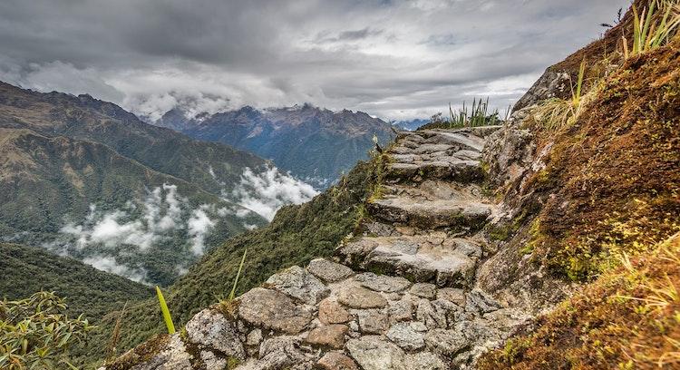 Inca Trail 2 days stairs
