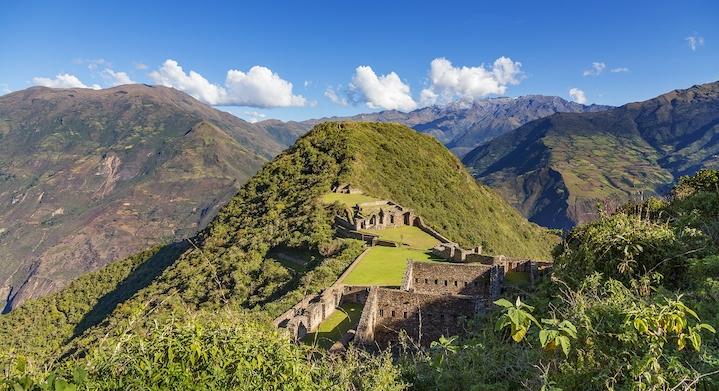 Montaña en Choquequirao y Machu Picchu