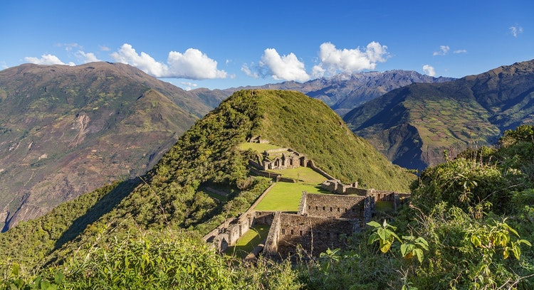 Montanha em Choquequirao e Machu Picchu