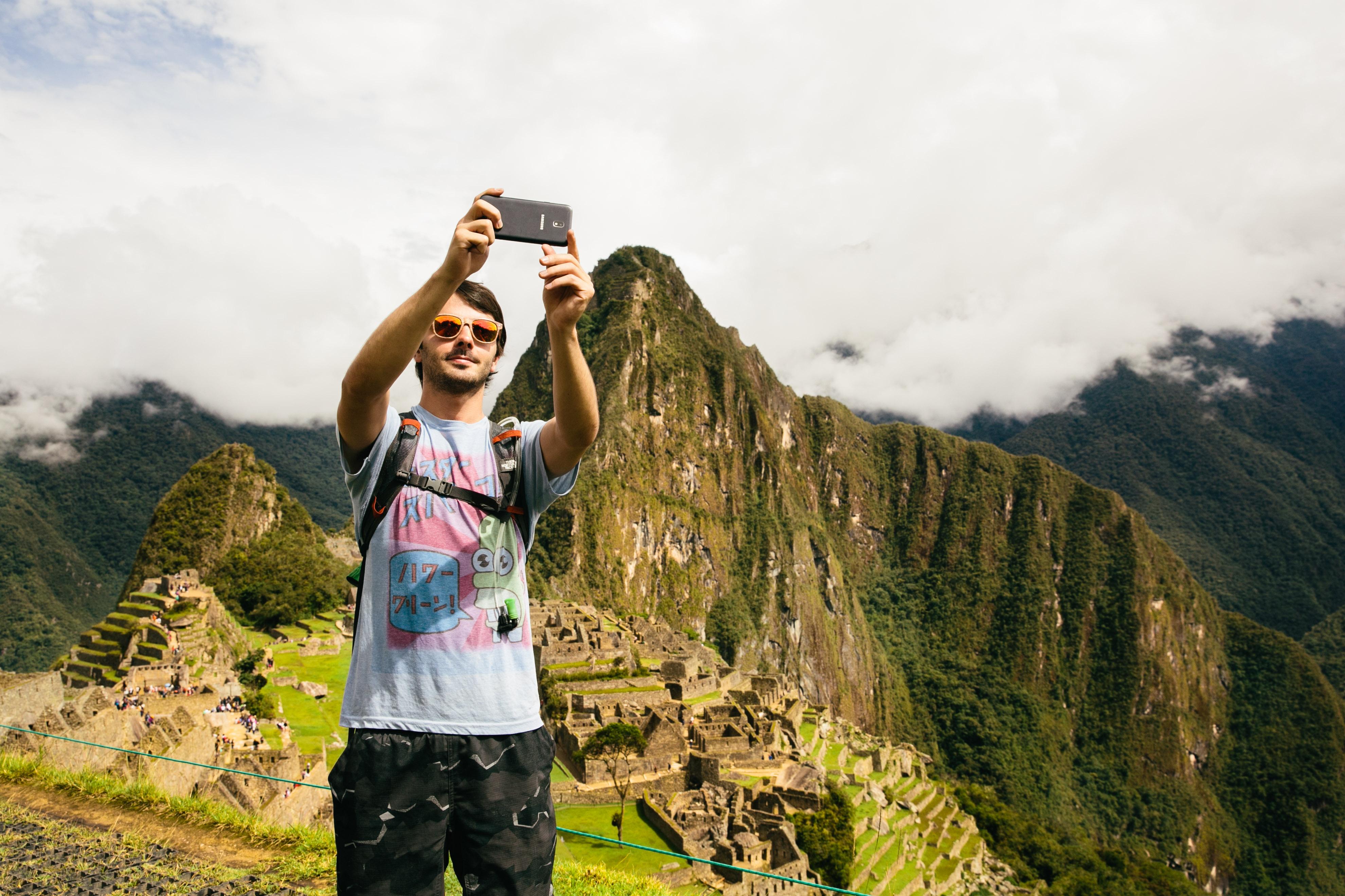 Teenager in Machu Picchu