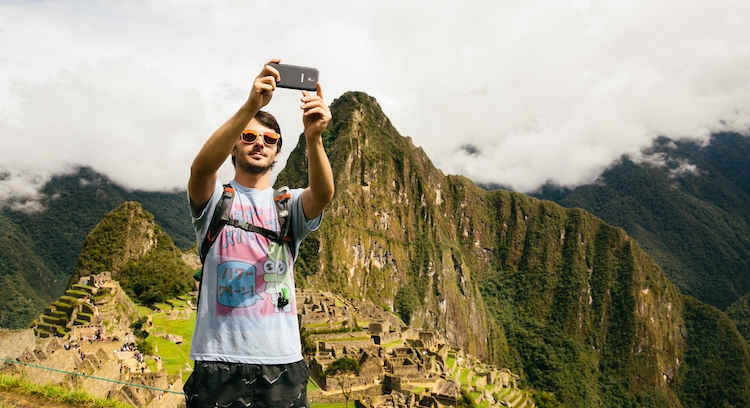 Teenager in Machu Picchu