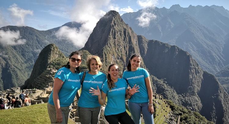 Denomades group at the citadel of Machu Picchu