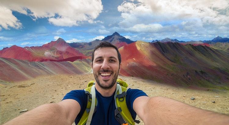 Selfie Montanha do Arco-Iris
