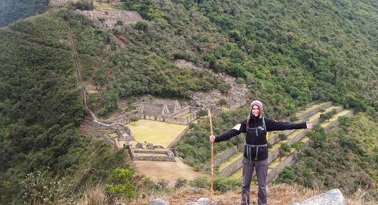 Persona en Trekking Choquequirao
