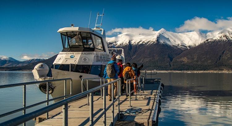 Embarco minitrekking Glaciar Perito Moreno en Ushuaia