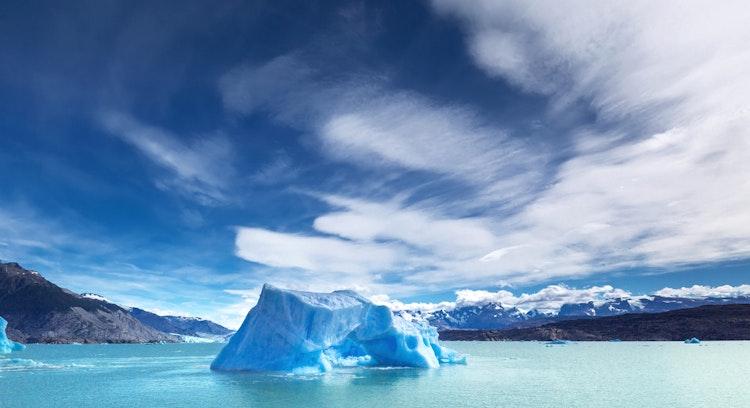 rios de hielo despejado