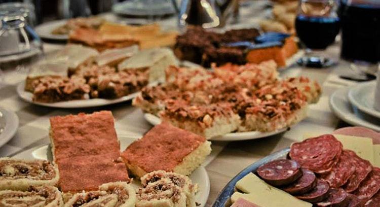Buffet de comida tradicional