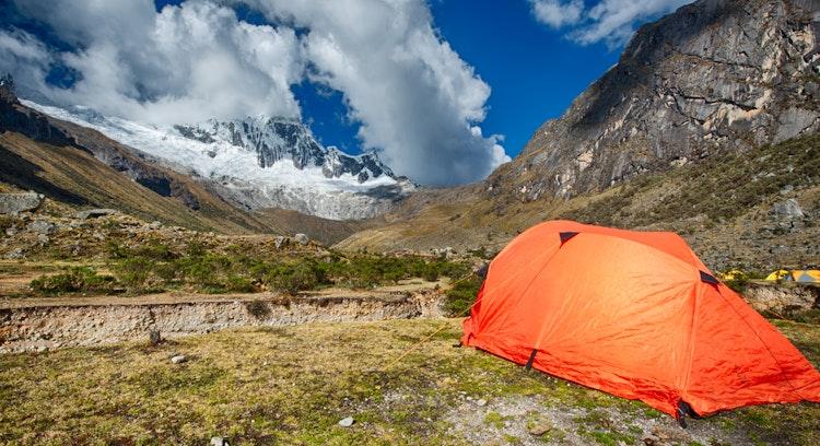 Tent in Trekking Santa Cruz in Peru