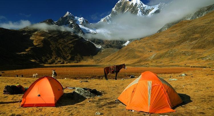 Camping in Cordillera Huayhuash Trek