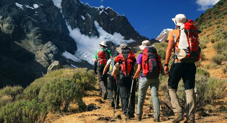 Panoramic in Cordillera Huayhuash Trek