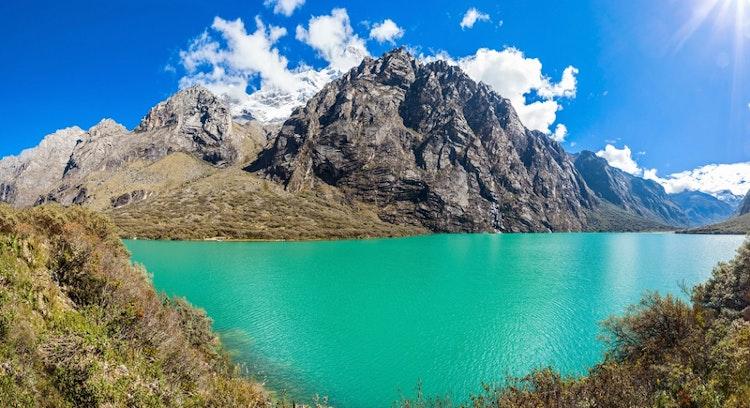 Panoramica em Lagoa Llanganuco