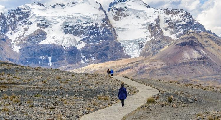 People in Trekking Pastoruri Mountain