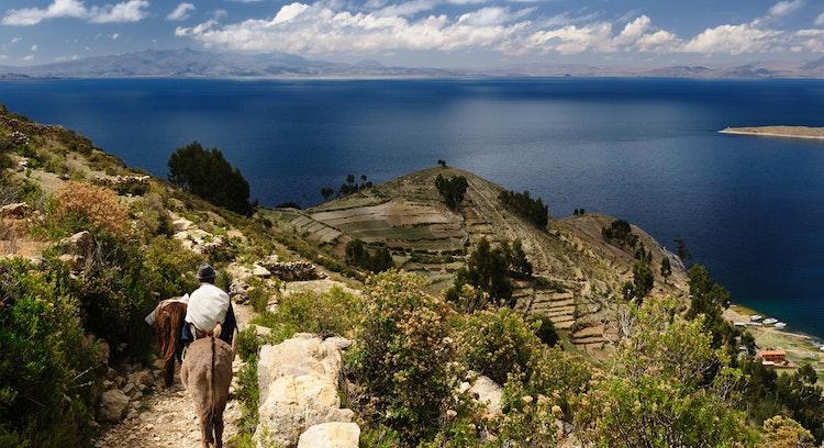 Ilha do sol na Bolívia