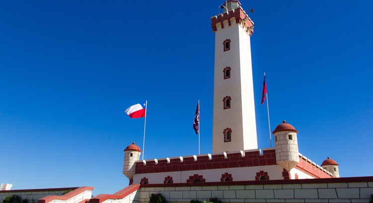 Lighthouse of La Serena in Chile