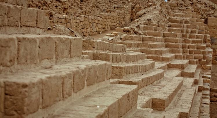 ruínas escadas Pachacamac