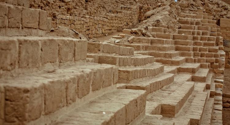 ruins stairs Pachacamac