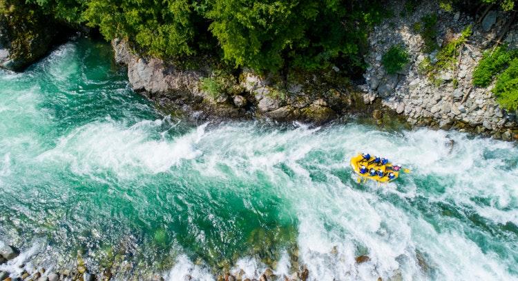 high trancura river in pucon