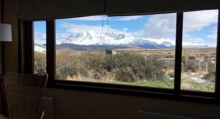 Vista Macizo Paine desde lodge