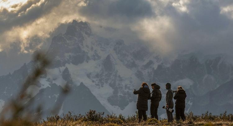 Personas en Torres del Paine