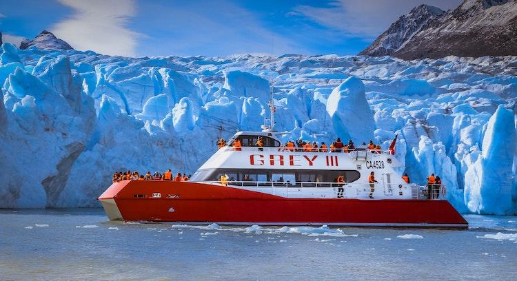 Catamaran on Grey Glacier
