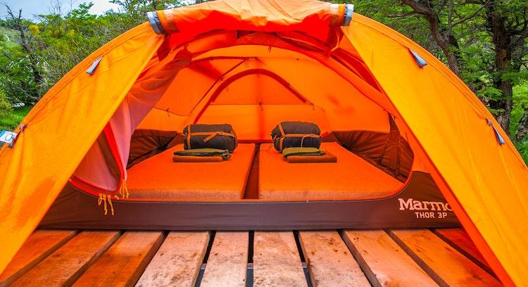 Carpa completa en camping Central en Circuito W