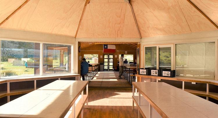 Comedor camping Paine Grande