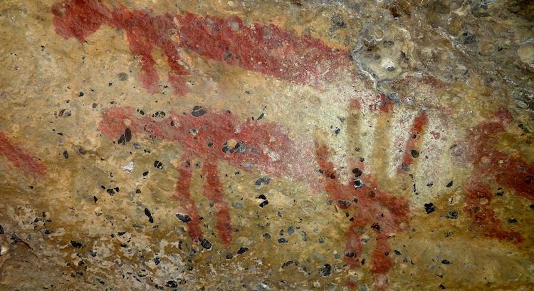 Pintura rupestre na Patagônia