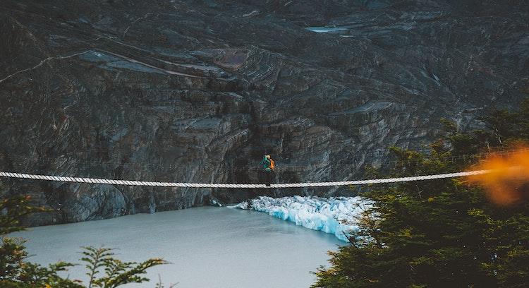 Puentes colgantes glaciar Grey