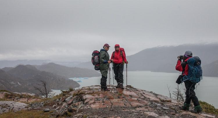 Mirador en parque Torres del Paine