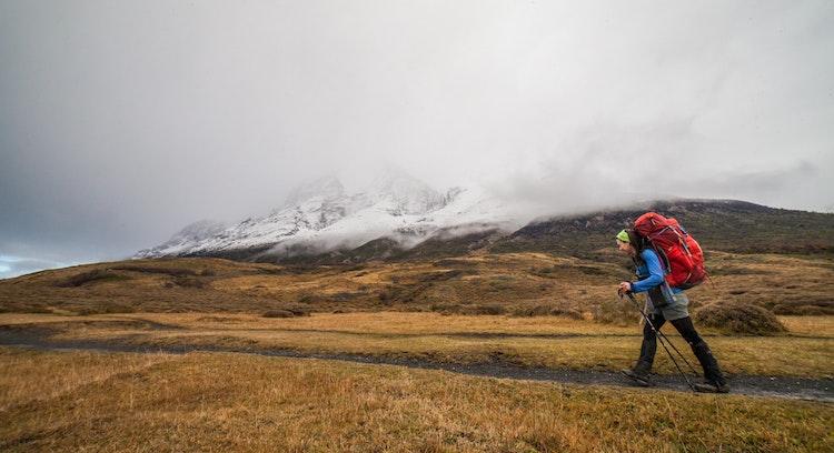 Trilha na Patagônia chilena