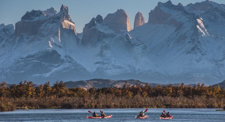 Cuernos del Paine de lago Grey
