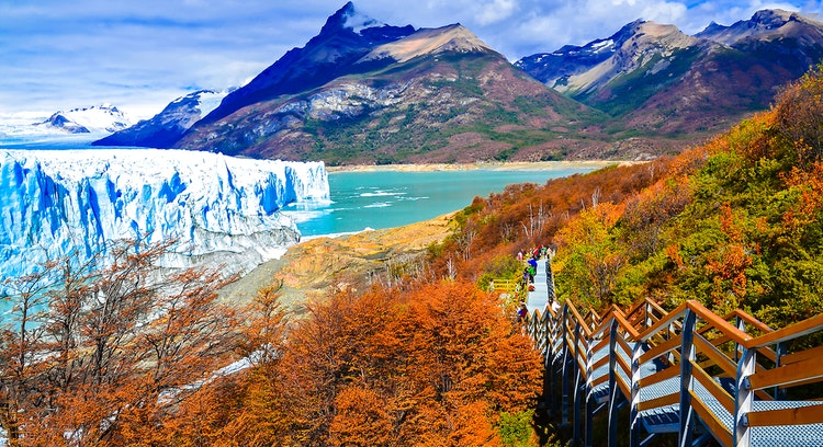 Geleira Perito Moreno em outono