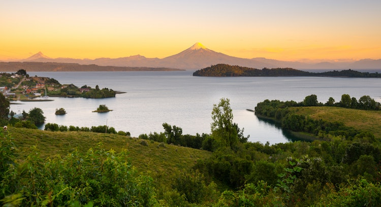 Puyehue Lake in Chile