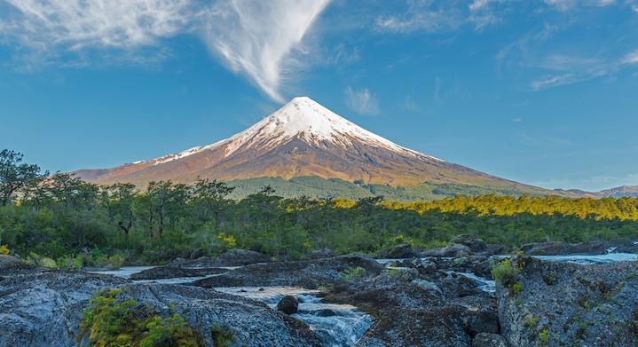 volcan despejado