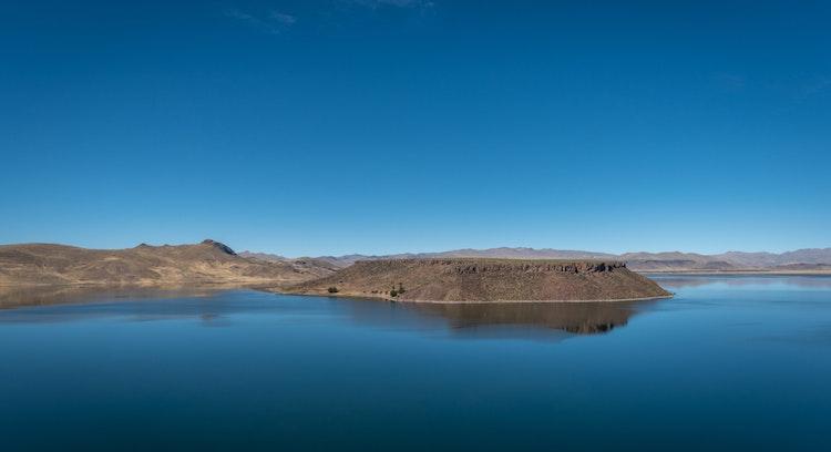laguna umayo en Perú despejado