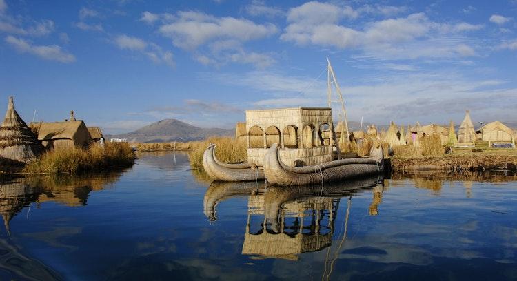 Isla de Uros en puno Perú