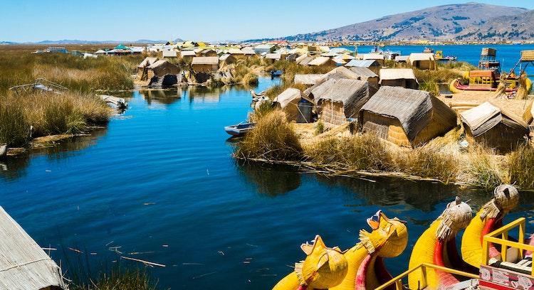 lago titicaca in Perú
