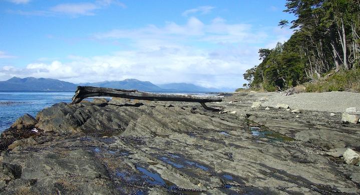 Playa estrecho de Magallanes
