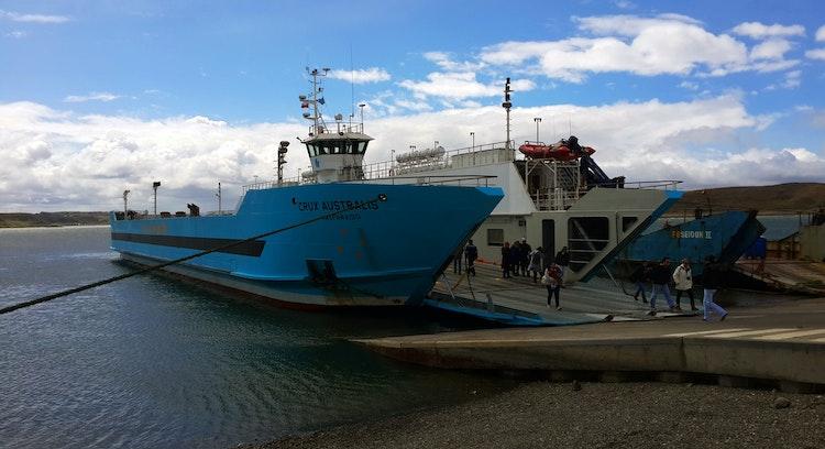 navigation to Tierra del Fuego