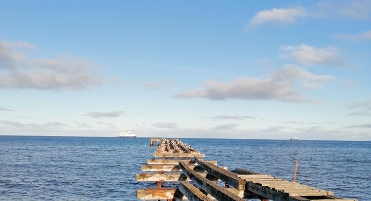Muelle en costanera Punta Arenas