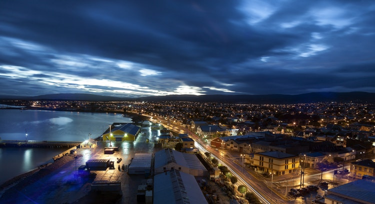 sunset in punta arenas