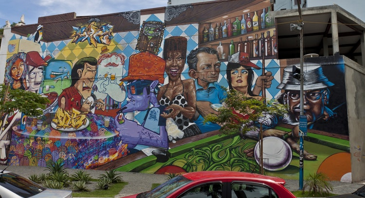 Graffiti en las calles de Río