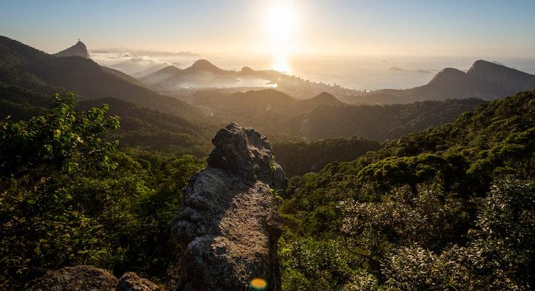 floresta de Tijuca en Río Brasil