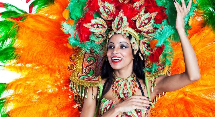 Bailarina de samba en Rio de Janeiro