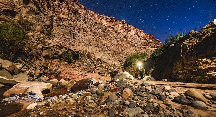 Caminata norctura por el desierto